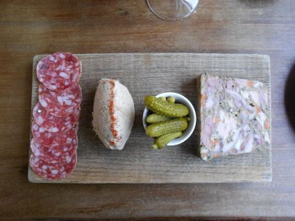 First loves, best loves. Not St. John, but one of the meals that in fact eclipsed my it, that first trip to London. Brawn (head cheese) at Brawn